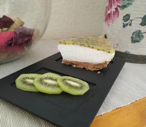 Tarta mousse de kiwi