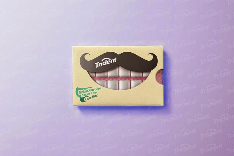 boca  con goms de mascar trident