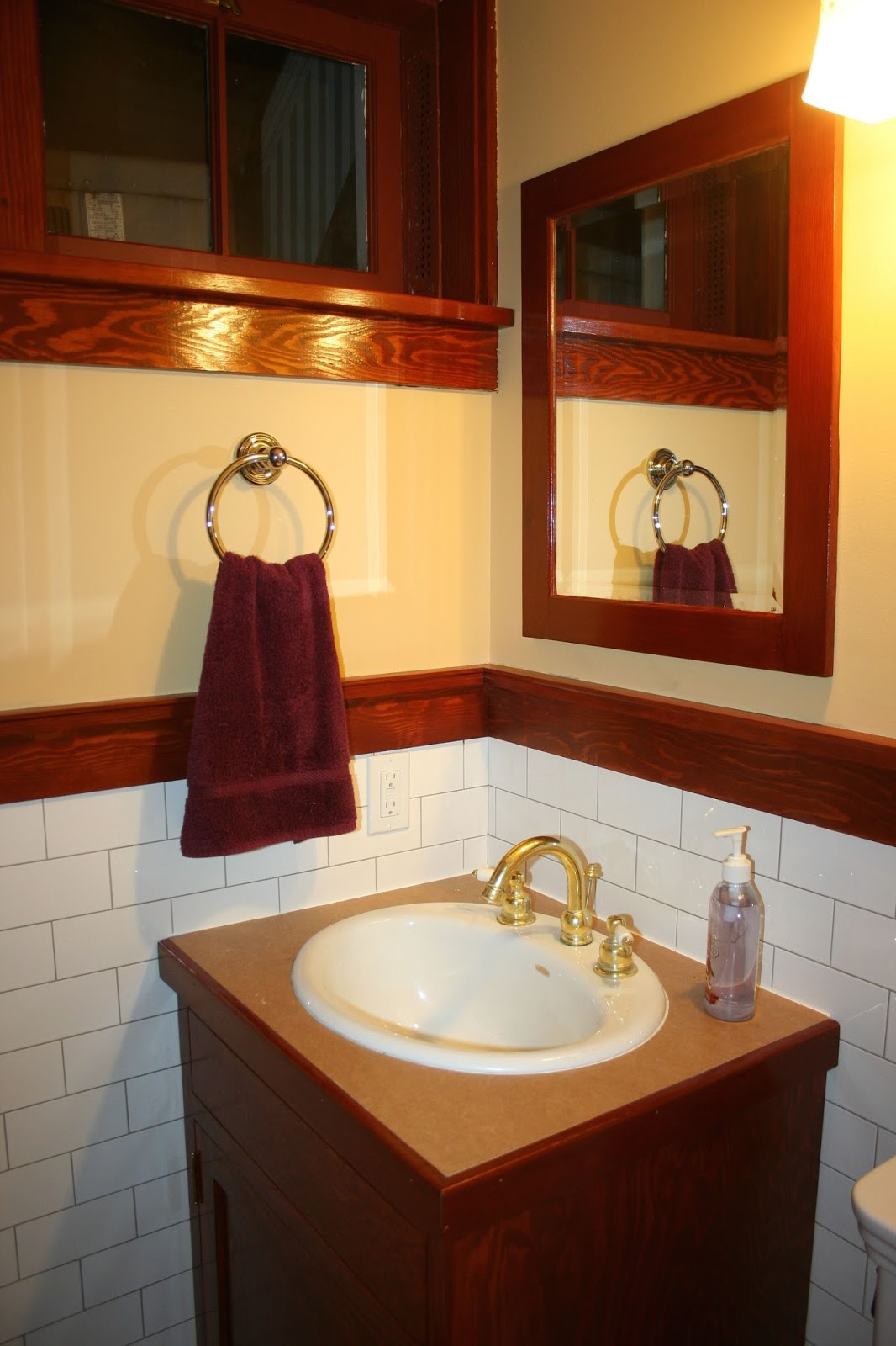 Laurelhurst Craftsman Bungalow Basement Bath Mirror