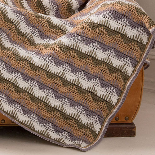 Unexpected Waves Throw - Free Pattern