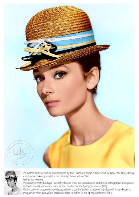 Ingekleurde foto Audrey Hepburn