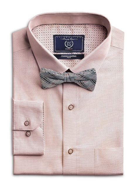 Barely Pink Shirt from Forma-Linens collection by Peter England_Rs 1599