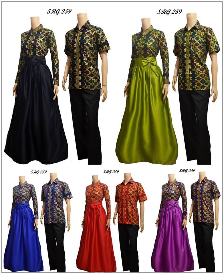 Model Baju Batik Gamis Katun Prada Bali Srg 259