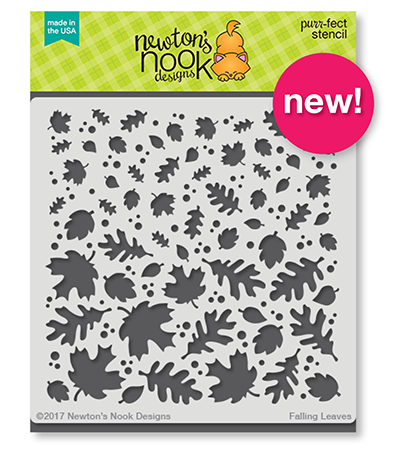 Newton's Nook Designs Falling Leaves Stencil