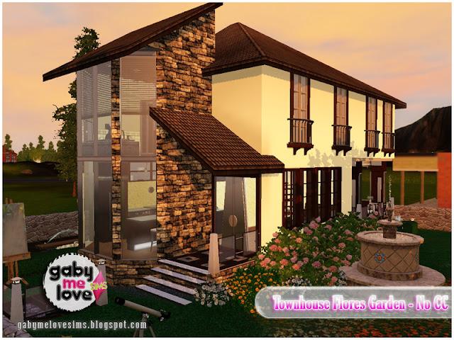 Townhouse Flores Garden |NO CC| ~ Lote Residencial, Sims 3. Vista 1.