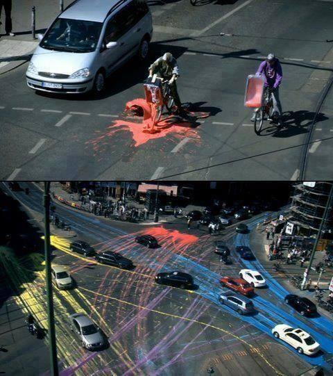 arte callejero intervencion interactiva cars and paint
