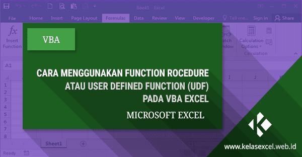 Cara Menggunakan Function Procedure VBA Excel #09