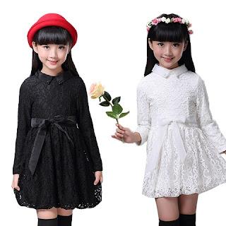 Contoh Model Baju Dress Lengan Panjang Anak Perempuan Terbaru