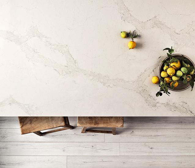 Caesarstone-Calacatta-Nuvo-quartz-white-kitchens-lemons-countertop