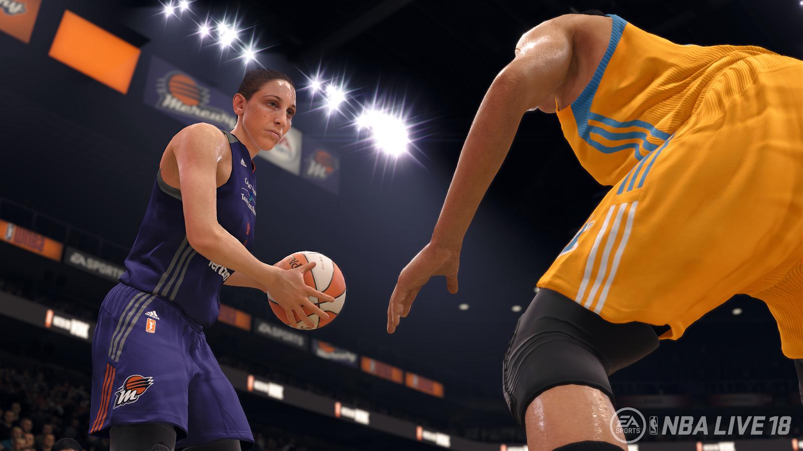 Los equipos y jugadoras de WNBA estarán en NBA Live 18