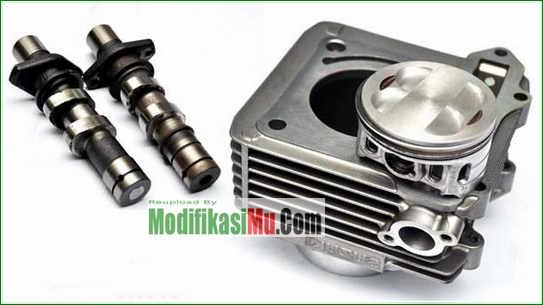 Piston Eliminator Tanpa Paking Blok Mesin - Video Cara Modifikasi Suzuki Satria F150 Stroke Up 200 cc Tampilan Simpel Sederhana Tapi Keren