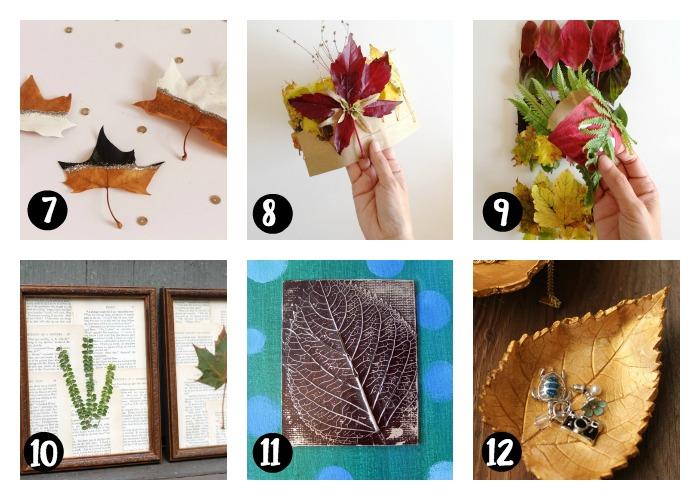 manualidades hojas secas -en-otoño