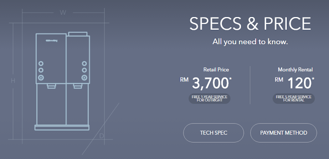 Spec and price - Coway Petit