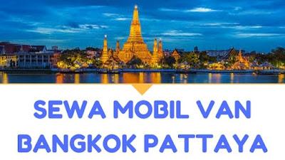 sewa mobil supir van commuter bangkok pattaya murah harian 2018