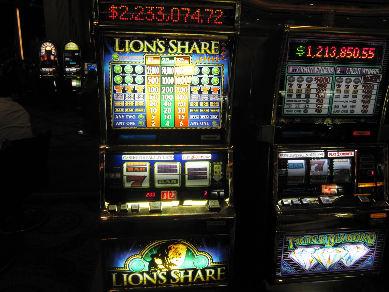 Las vegas slot machine payout ratio