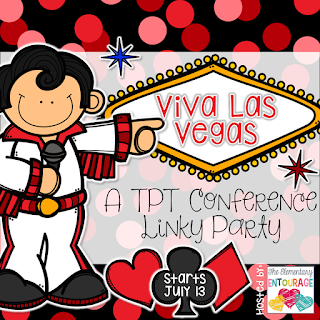 Linky party button for the 2015 TpT Vegas Conference Blog Hop