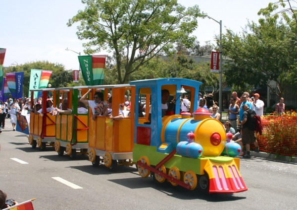 LA Pride Parade train 2013