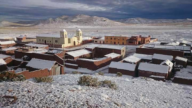 Blick auf mein Dorf San Pablo de Lipez