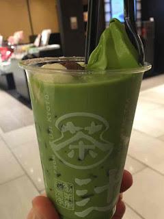 辻利 銀座 京ラテ フロート濃い茶
