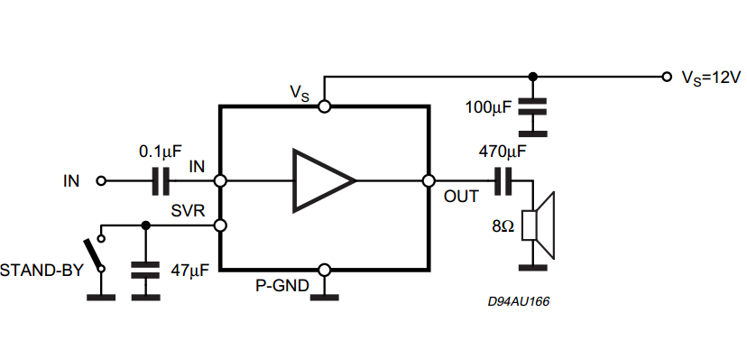 2W MONO AMPLIFIER ~ AmplifierCircuits.com