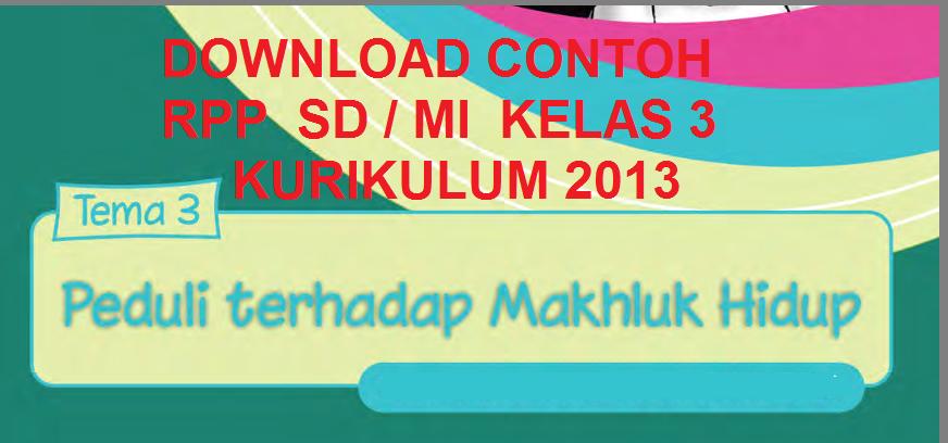 Download Rpp Sd Mi Kelas 1 2 3 4 Kurikulum 2013