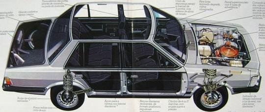 del rey, ford, carro, carro em corte, suspensão, motor
