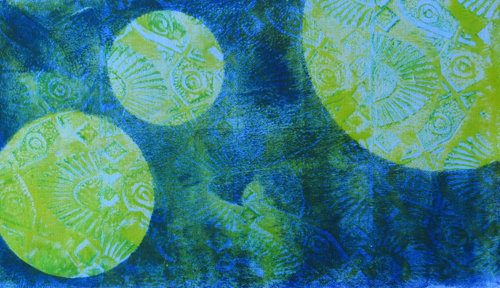 Linda Steele Quilt Blog: Fabric Paint for Mono Printing