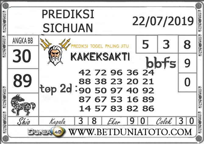 """Prediksi Togel """"SICHUAN"""" DUNIA4D 22 JULI 2019"""