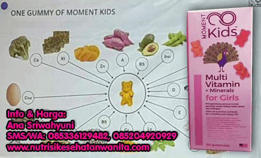 Produk Moment Kids Multi Vitamin + Mineral For Girls