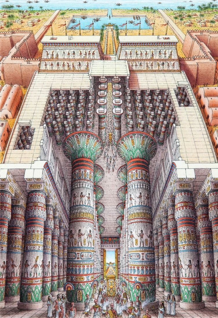 05-Temple-of-Amun-Ra-Egypt-Stephen-Biesty-Historical-Architectural-Buildings-Inside-out-Drawings-www-designstack-co