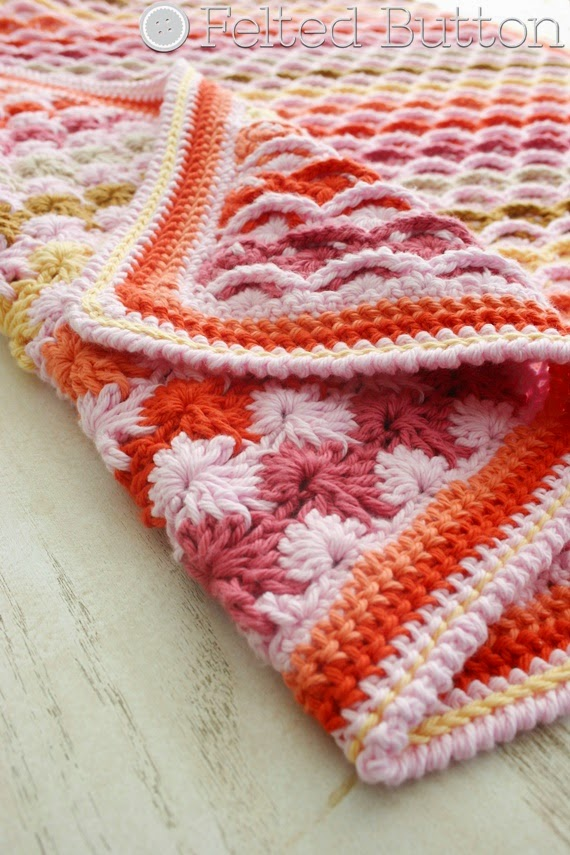 Confections Blanket Crochet Pattern by Susan Carlson of Felted Button