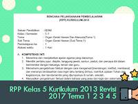 RPP Kelas 5 Kurikulum 2013 Revisi 2017 Tema 1 2 3 4 5