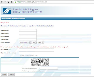 SSS Registration Form