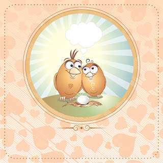 Clipart Image of a Pair of Lovebirds