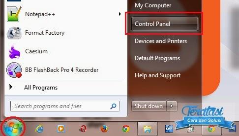 start menu - control panel - cara untuk menonaktifkan windwos auto update pada windows 7