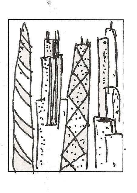 No Corner Suns: Chicago Cityscape: Parts of Composition