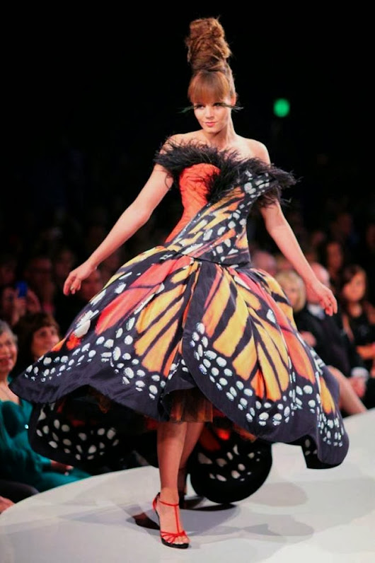 The Monarch Butterfly Dress by Luly Yang (FASHION)