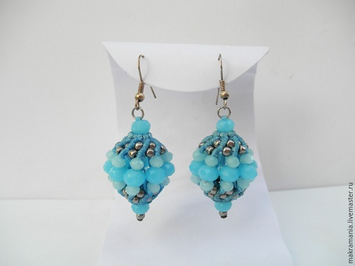 Macrame Beaded Bead Earrings Tutorial