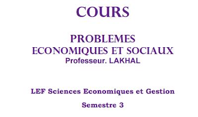 Problèmes économiques et sociaux cours