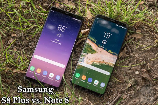 Samsung Galaxy S8 Plus vs. Note 8: Display and the Screen