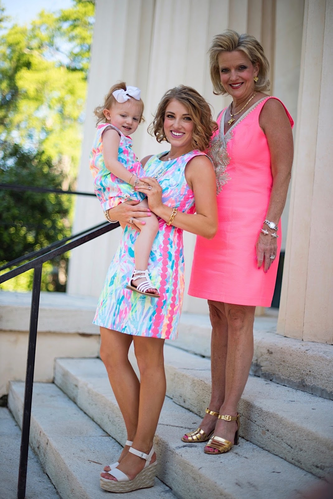 Three generations in Lilly Pulitzer - Something Delightful Blog