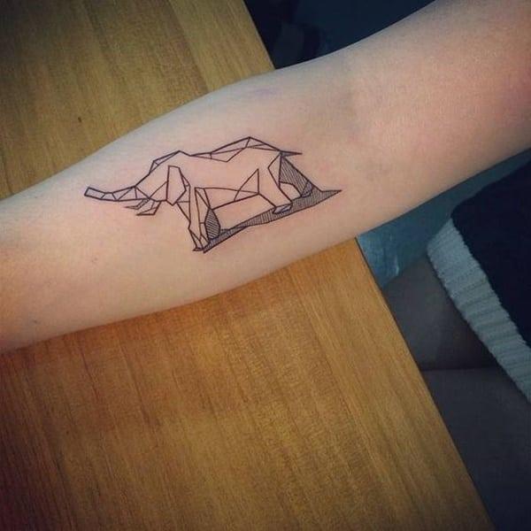 tatuagens femininas de elefante