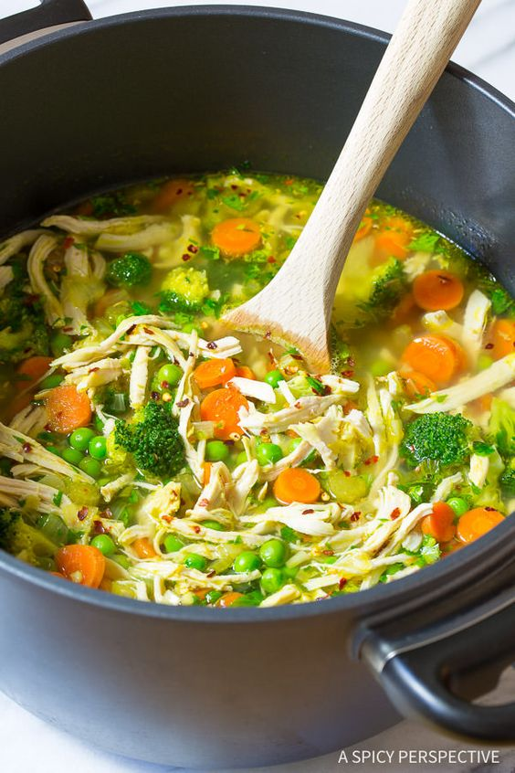 This Chicken Detox Soup recipe is fast and tasty. It's a healthy cleansing soup, and is great to whip up anytime you need a do-over in your eating plan.