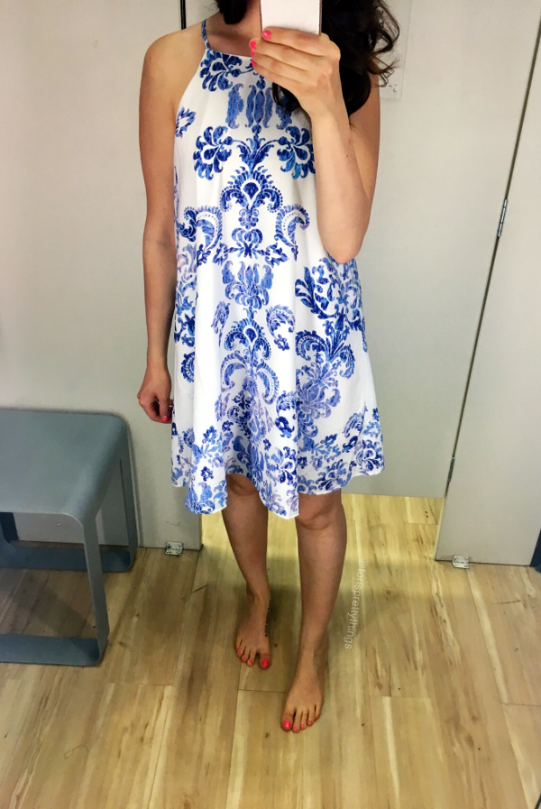Blue and white Dress - Marshalls fitting room looks  - Tori's Pretty Things Blog