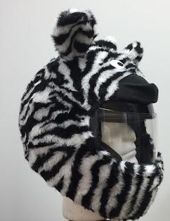 Zebra Motorcycle Helmet Cover