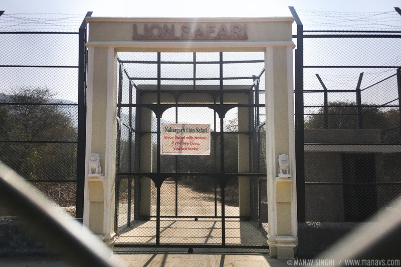 Main Entrance of Nahargarh Lion Safari, Jaipur, Rajasthan.