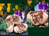 Pan con Cebolla Pimientos y Tomillo Limonero