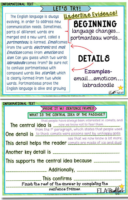 VIDEO Post: Teach students to determine the central idea of a nonfiction passage by using the gradual release of responsibility model.