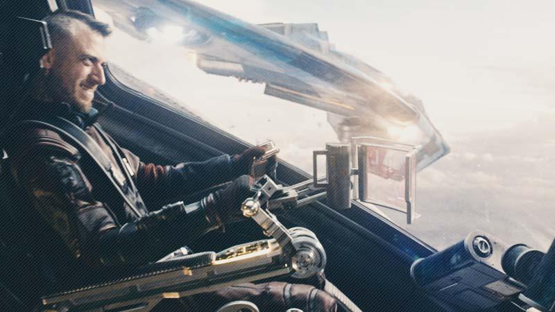 Kraglin melatih panah pemberian Yondu
