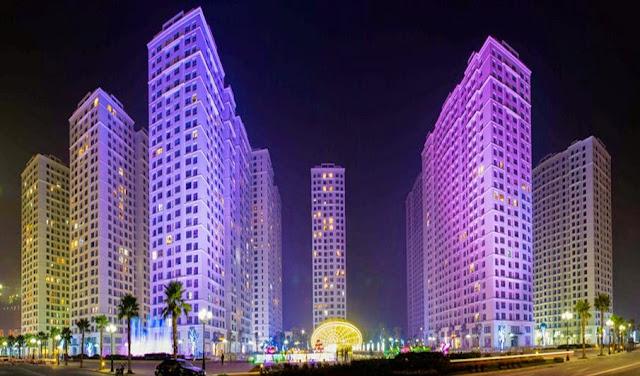 Hình ảnh thực tế Times City về đêm